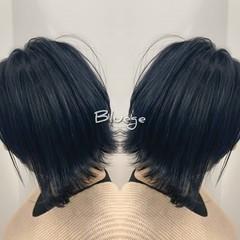 外国人風カラー バレイヤージュ 切りっぱなしボブ 3Dハイライト ヘアスタイルや髪型の写真・画像
