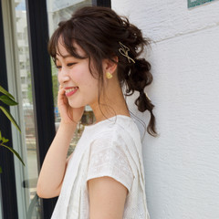 イルミナカラー ミディアム 結婚式ヘアアレンジ ウルフカット ヘアスタイルや髪型の写真・画像
