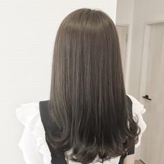 ナチュラル アッシュ 暗髪 ゆるふわ ヘアスタイルや髪型の写真・画像