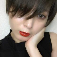 色気 ベージュ ショート モード ヘアスタイルや髪型の写真・画像