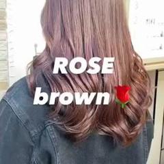 ナチュラル 赤髪 ツヤ髪 韓国ヘア ヘアスタイルや髪型の写真・画像