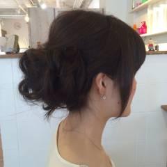 モテ髪 コンサバ フェミニン 結婚式 ヘアスタイルや髪型の写真・画像