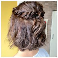 外国人風 大人かわいい アッシュ 簡単ヘアアレンジ ヘアスタイルや髪型の写真・画像