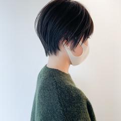 ベリーショート ショートヘア 小顔ショート 黒髪ショート ヘアスタイルや髪型の写真・画像