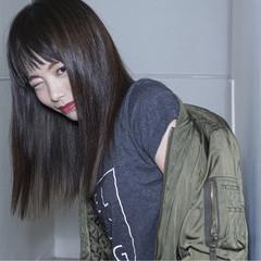切りっぱなし ストリート 色気 黒髪 ヘアスタイルや髪型の写真・画像