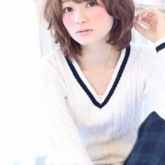 秋 コンサバ ショート モテ髪 ヘアスタイルや髪型の写真・画像