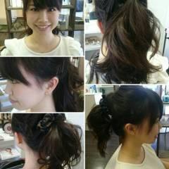 外国人風 ロング ヘアアレンジ 逆三角形 ヘアスタイルや髪型の写真・画像