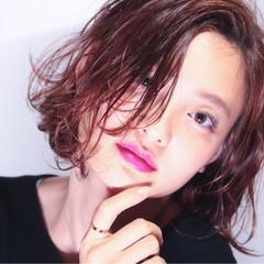 外国人風カラー 外ハネ ボブ ショート ヘアスタイルや髪型の写真・画像