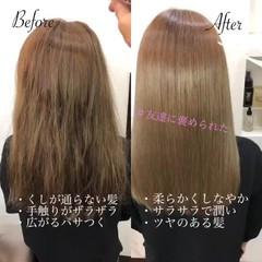 ナチュラル ストレート ショートヘア 髪質改善カラー ヘアスタイルや髪型の写真・画像