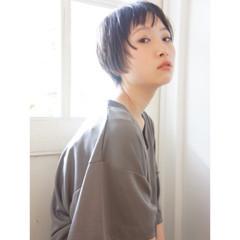 ベリーショート ショートバング ショート ショートボブ ヘアスタイルや髪型の写真・画像