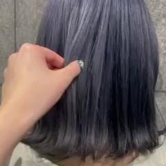 ショートヘア 切りっぱなしボブ エレガント セミロング ヘアスタイルや髪型の写真・画像