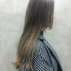 ハイライト ミルクティーベージュ エレガント ダブルカラー ヘアスタイルや髪型の写真・画像