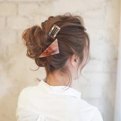 お団子 ヘアアレンジ 簡単ヘアアレンジ ショート ヘアスタイルや髪型の写真・画像