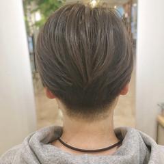 刈り上げショート ショートヘア ナチュラル ショート ヘアスタイルや髪型の写真・画像