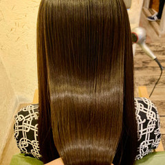 ロング 髪質改善 ストレート 髪質改善トリートメント ヘアスタイルや髪型の写真・画像