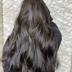 透明感カラー 地毛風カラー ラベンダーグレージュ ロング ヘアスタイルや髪型の写真・画像
