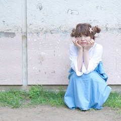 ミディアム 夏 簡単ヘアアレンジ 女子会 ヘアスタイルや髪型の写真・画像
