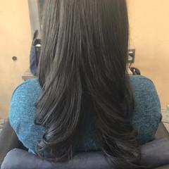 ロング デジタルパーマ アッシュ 外国人風カラー ヘアスタイルや髪型の写真・画像