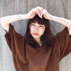 ミディアム 黒髪 ピュア モード ヘアスタイルや髪型の写真・画像