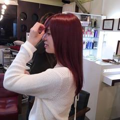 グラデーションカラー ラベンダーピンク セミロング ピンク ヘアスタイルや髪型の写真・画像
