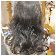 パーマ 暗髪 女子会 フェミニン ヘアスタイルや髪型の写真・画像