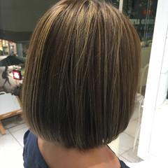 アッシュ ストリート ボブ グラデーションカラー ヘアスタイルや髪型の写真・画像