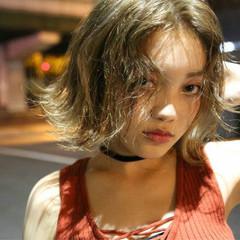 モード 色気 ボブ ハイライト ヘアスタイルや髪型の写真・画像