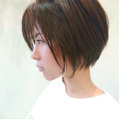 インナーカラー ショートボブ ミニボブ ナチュラル ヘアスタイルや髪型の写真・画像