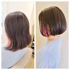 ショートボブ ミニボブ ボブ モード ヘアスタイルや髪型の写真・画像