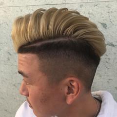 スキンフェード ストリート メンズカラー フェードカット ヘアスタイルや髪型の写真・画像