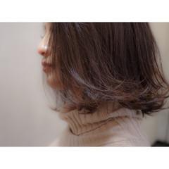 外国人風 ブラウン ボブ ハイライト ヘアスタイルや髪型の写真・画像