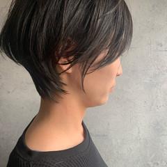 ナチュラル ハンサムショート ショートボブ ショート ヘアスタイルや髪型の写真・画像