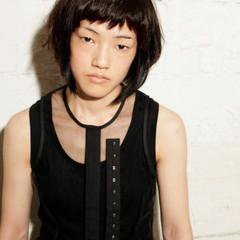 黒髪 暗髪 ボブ グラデーションカラー ヘアスタイルや髪型の写真・画像
