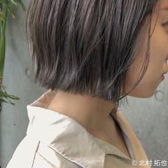 ミニボブ ブルージュ ボブ ナチュラル ヘアスタイルや髪型の写真・画像