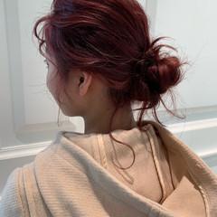 ヘアアレンジ 簡単ヘアアレンジ 成人式 フェミニン ヘアスタイルや髪型の写真・画像
