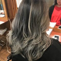 バレイヤージュ ハイライト 外国人風カラー 上品 ヘアスタイルや髪型の写真・画像