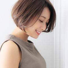 大人女子 縮毛矯正 大人かわいい ショートボブ ヘアスタイルや髪型の写真・画像