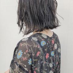 切りっぱなし 外国人風カラー ボブ アンニュイ ヘアスタイルや髪型の写真・画像