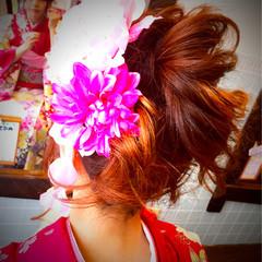 ロング 成人式 ヘアアレンジ アップスタイル ヘアスタイルや髪型の写真・画像