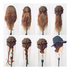 ヘアアレンジ 三つ編み 結婚式 ミディアム ヘアスタイルや髪型の写真・画像
