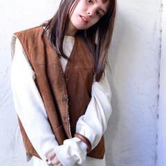 透明感カラー 切りっぱなしボブ ウルフレイヤー ロング ヘアスタイルや髪型の写真・画像