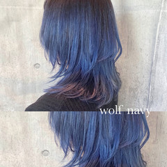 ミディアム ストリート ウルフ ウルフカット ヘアスタイルや髪型の写真・画像