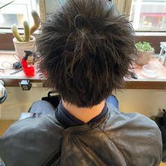 ショート メンズカラー メンズショート フェードカット ヘアスタイルや髪型の写真・画像
