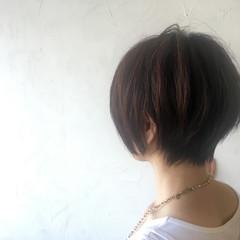 ナチュラル ショート 暗髪 大人かわいい ヘアスタイルや髪型の写真・画像