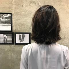 色気 ナチュラル 外ハネ ボブ ヘアスタイルや髪型の写真・画像
