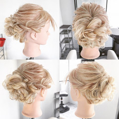 大人女子 ヘアアレンジ フェミニン こなれ感 ヘアスタイルや髪型の写真・画像