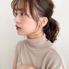 アンニュイほつれヘア 髪質改善トリートメント 大人かわいい ミディアム ヘアスタイルや髪型の写真・画像