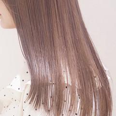 韓国ヘア ミルクティー ダブルカラー ナチュラル ヘアスタイルや髪型の写真・画像