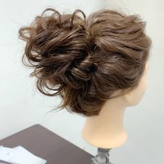 セット セミロング ナチュラル ヘアセット ヘアスタイルや髪型の写真・画像