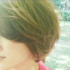 フェミニン ショート 透明感 おフェロ ヘアスタイルや髪型の写真・画像